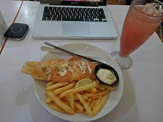 Fish n chips ala Fish Streat yang menggoda